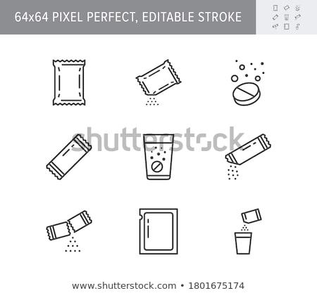 Water aspirine glas pillen gezondheid achtergrond Stockfoto © deyangeorgiev
