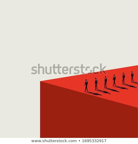 Financiële klif fiscale risico gevaarlijk Stockfoto © Lightsource