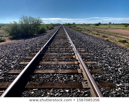 遠く 西 列車 トラック 雲 橋 ストックフォト © aetb