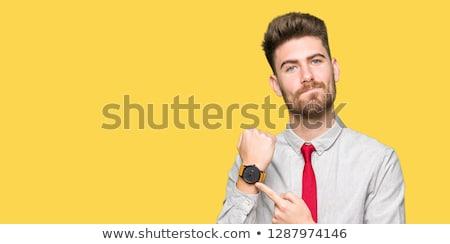 Impaciente homem imagem masculino criança azul Foto stock © cteconsulting
