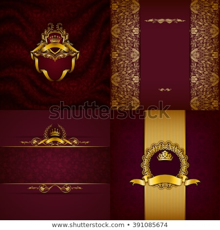 Red Shield with Drapery Stock photo © cteconsulting