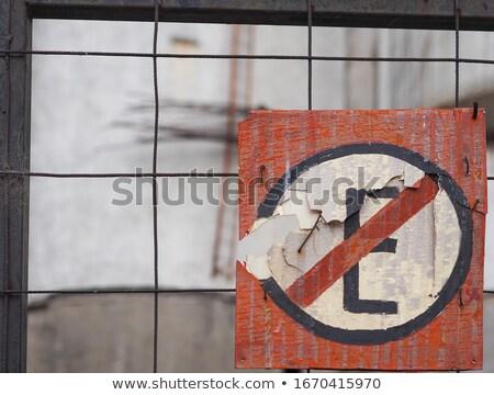 риск письма падение отдельно знак опасность Сток-фото © dacasdo