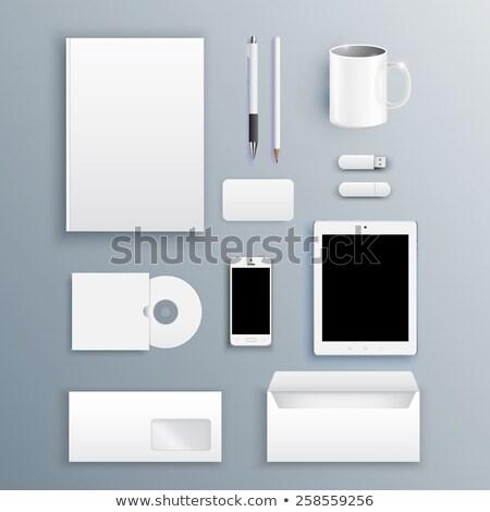 Kurumsal ofis şablonları belgeler resim kareler Stok fotoğraf © obradart