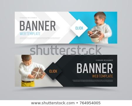 Web afiş şablonları şablon tanıtım örnek Stok fotoğraf © obradart