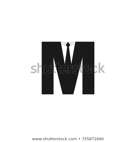 M alphabet logo with tie Stock photo © shawlinmohd