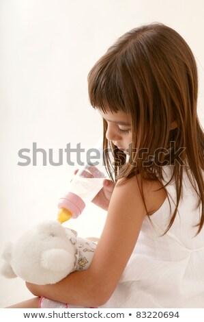 vrouw · geïsoleerd · witte · hand · vis - stockfoto © lunamarina