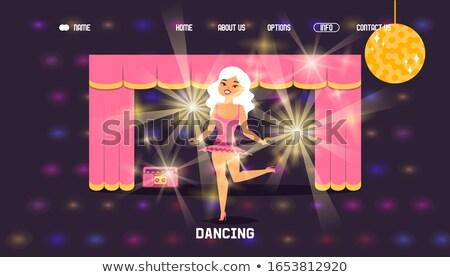 cheerful girl on landing stage Stock photo © ssuaphoto