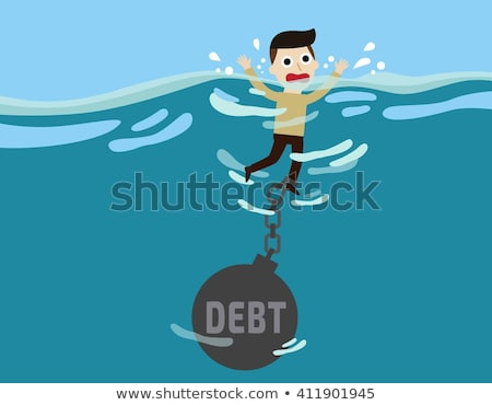 Schuld business financieren woord icon Stockfoto © Lightsource