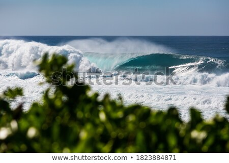 Blauw oceaan ondiep offshore afbeelding azuur Stockfoto © jrstock