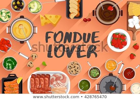 fondue set stock photo © antonio-s