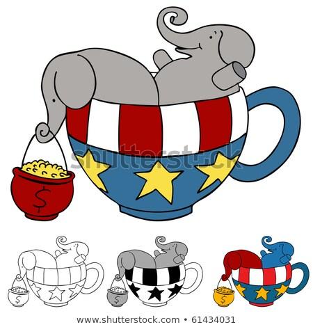 amerikai · republikánus · buli · elefánt · vektor · rajz - stock fotó © cteconsulting