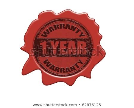 Gwarancja rok pieczęć czerwony wosk pieczęć Zdjęcia stock © tashatuvango