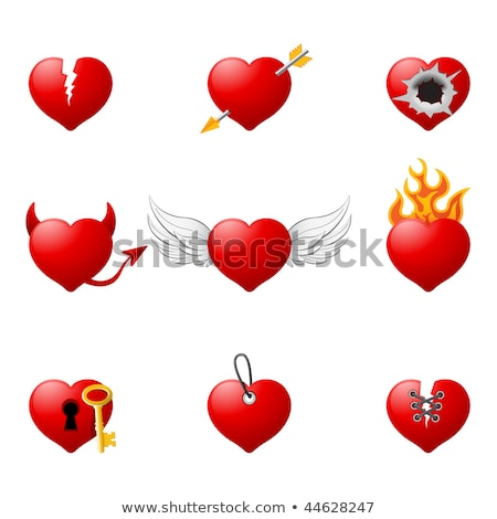 Bullet hole heart concept Stock photo © Krisdog