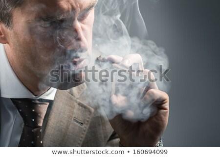 サイド ファッション 男 スーツ ネクタイ 喫煙 ストックフォト © feedough