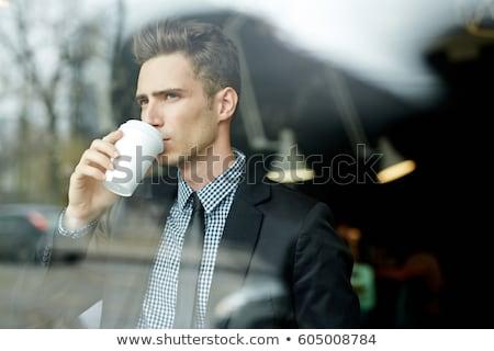 бизнеса служба питьевой кофе два Сток-фото © Kzenon