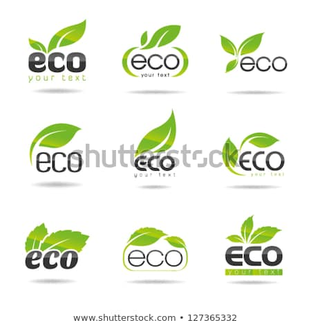 zielone · pozostawia · ikona · ilustracja · odizolowany - zdjęcia stock © cidepix