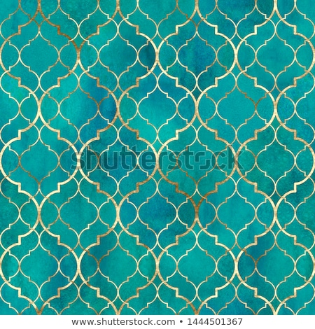 seamless islamic geometric pattern mosaic of coloured glass stock photo © creative_stock