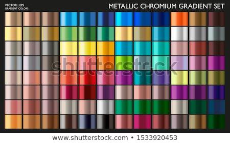 Abstract colourful metallic vector banners Stock photo © saicle