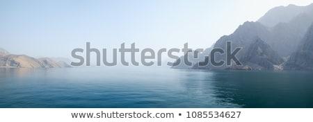 Bergen zee verbazingwekkend landschap zwarte berg Stockfoto © vrvalerian