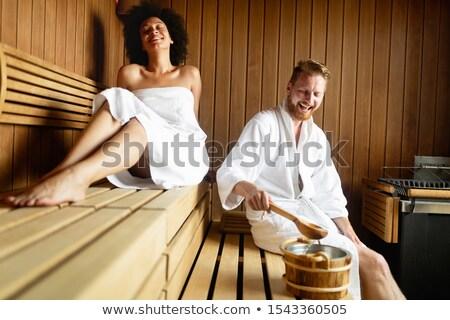 Arkadaşlar sauna iki kadın vitamin Stok fotoğraf © Kzenon