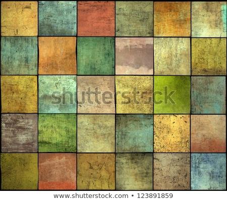 çoklu renk kare karo grunge model Stok fotoğraf © Melvin07