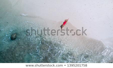 довольно · блондинка · девушки · пляж · воды · тело - Сток-фото © kakigori