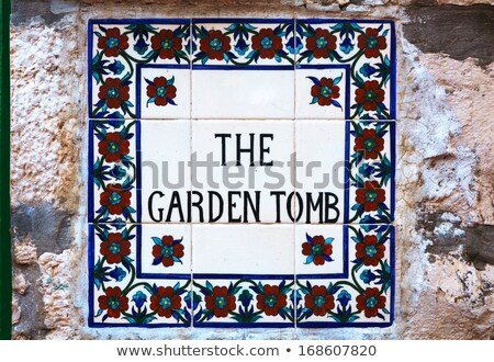 Ogród grób podpisania Jerozolima Izrael Wielkanoc Zdjęcia stock © AndreyKr