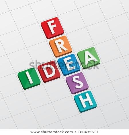 fresh idea crossword, flat design Stock photo © marinini