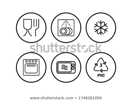 Mikrodalga düğmeler makro atış modern panel Stok fotoğraf © AlphaBaby