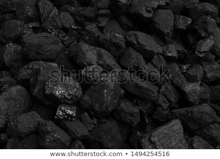 黒 石炭 表面 石 エネルギー 白 ストックフォト © bdspn
