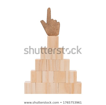 cubic thumbs up sign isolated on white Stock photo © vizarch