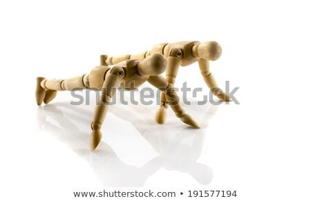 カップル · 行使 · ジム · 小さな · 筋肉の · トレーニング - ストックフォト © compuinfoto