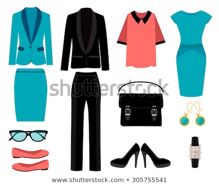women clothes objects cartoon set stock photo © izakowski