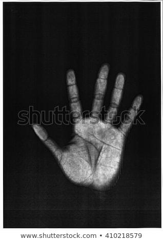 Kéz feketefehér segítség stressz Stock fotó © devon