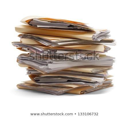 Dosyaları · siyah · kırmızı · klasörler · ofis - stok fotoğraf © 39HH39