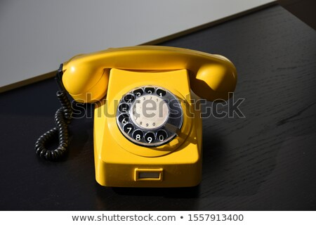 Vecchio comporre telefono beige bianco telefono Foto d'archivio © nito
