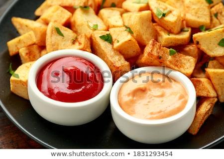 Típico espanol picante patatas primer plano placa Foto stock © nito