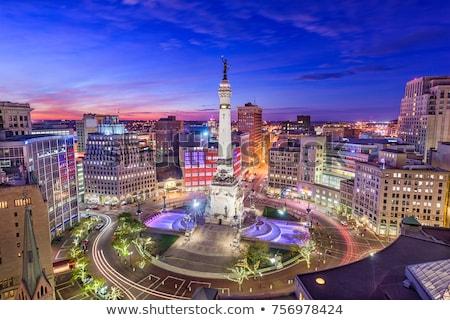 Foto stock: Centro · da · cidade · noite · tempo · edifício · cidade · viajar