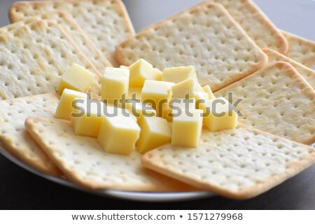 Cheddar cheese and crackers Stock photo © MSPhotographic