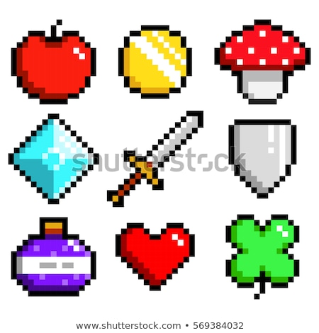 icona · pixel · mela · design · alimentare · frutta - foto d'archivio © elenapro