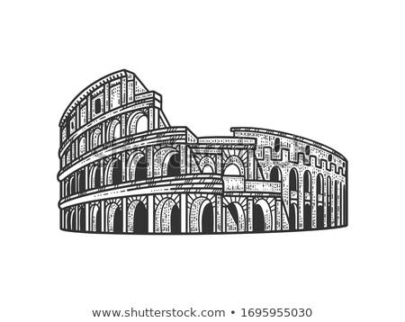 Колизей Рим овальный иллюстрация Италия Сток-фото © patrimonio