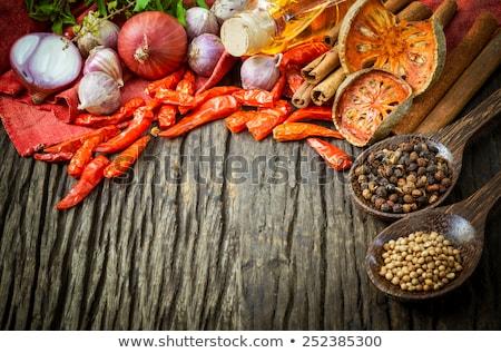 ingrédients · prêt · cuisson · pourpre · basilic - photo stock © yongkiet