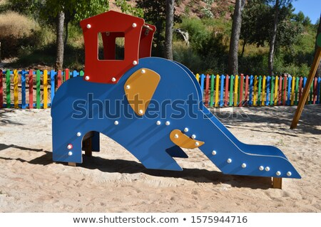 Coloré slide forme peu enfants Photo stock © Smileus