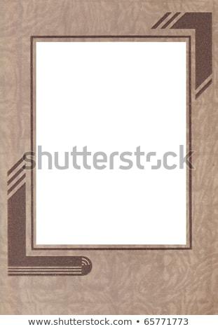 Klasszikus art deco fotó karton foltos öreg Stock fotó © RedDaxLuma