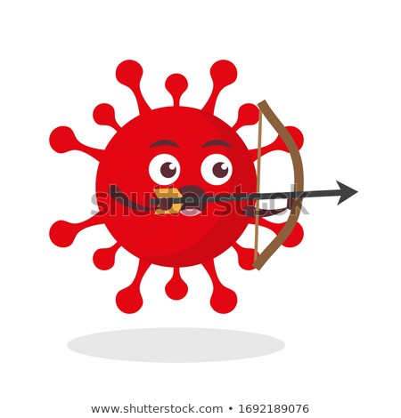 Epidemic - Arrows Hit in Red Target. Stock photo © tashatuvango