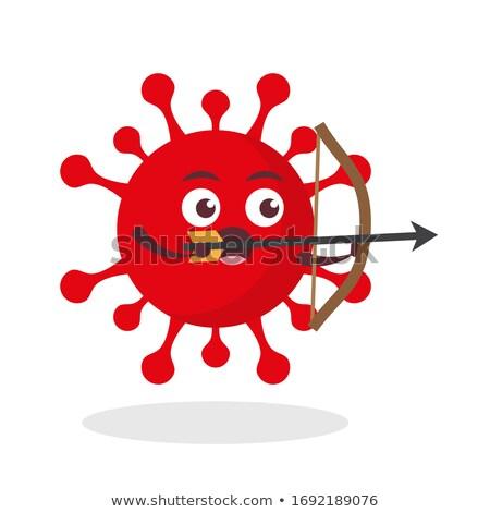 epidemic   arrows hit in red target stock photo © tashatuvango