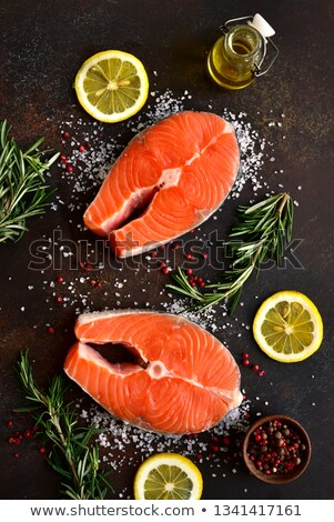 frozen red fish steaks on a market  Stock photo © mikdam