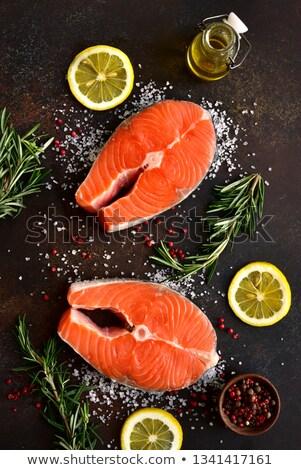 salmão · peixe · temperos · cozinhar - foto stock © mikdam