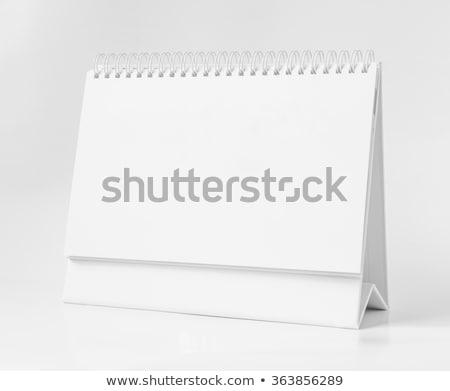 Blank White Desktop Calendar, Stock photo © tashatuvango