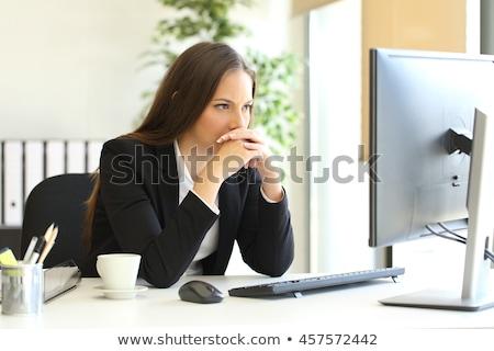 деловой · женщины · грусть · белый · женщину · служба - Сток-фото © elwynn